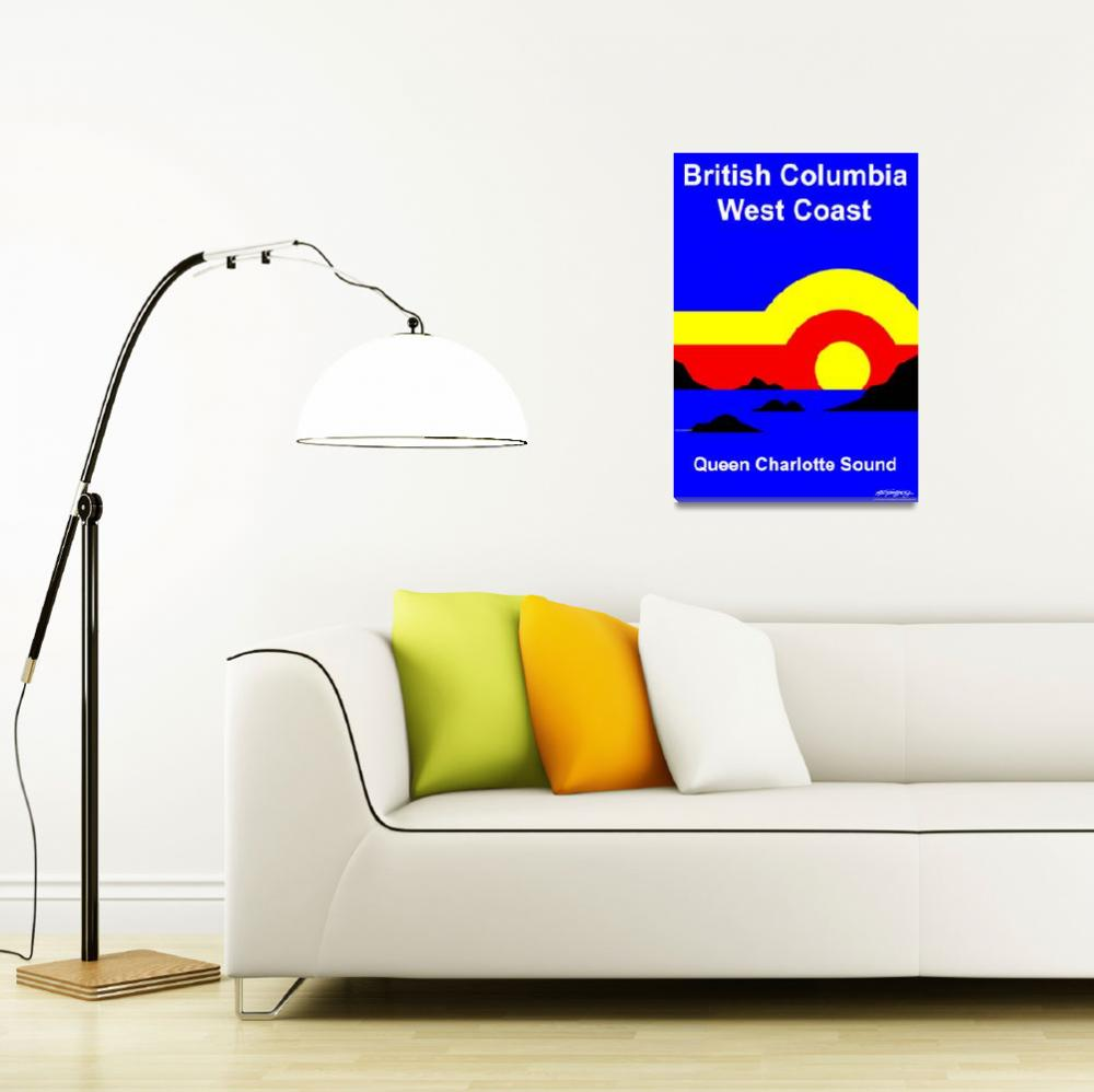 """Queen Charlotte Sound - Text Poster&quot  by Lonvig"