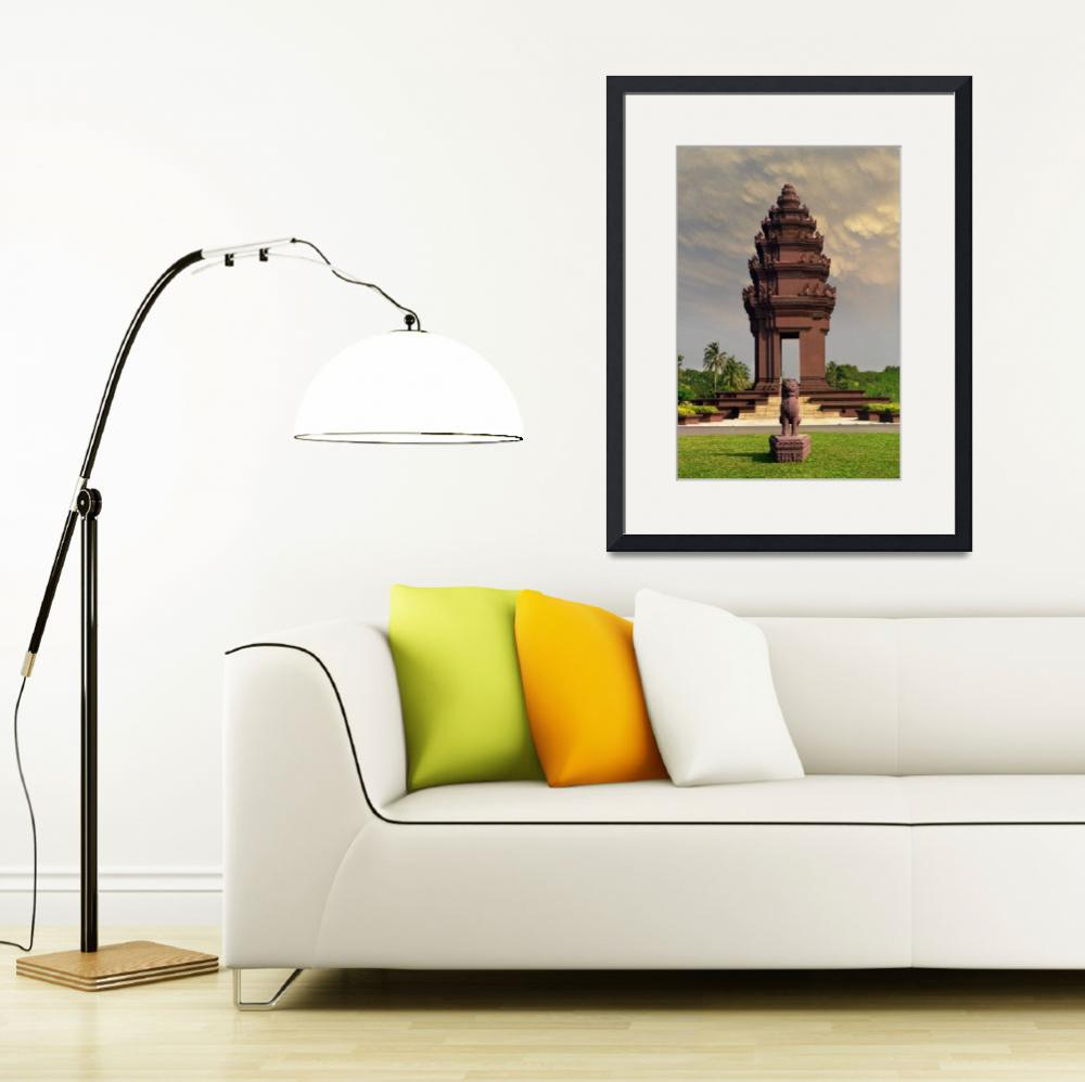 """Cambodia, Independence Monument-2&quot  (2014) by AppleCoreStudio"