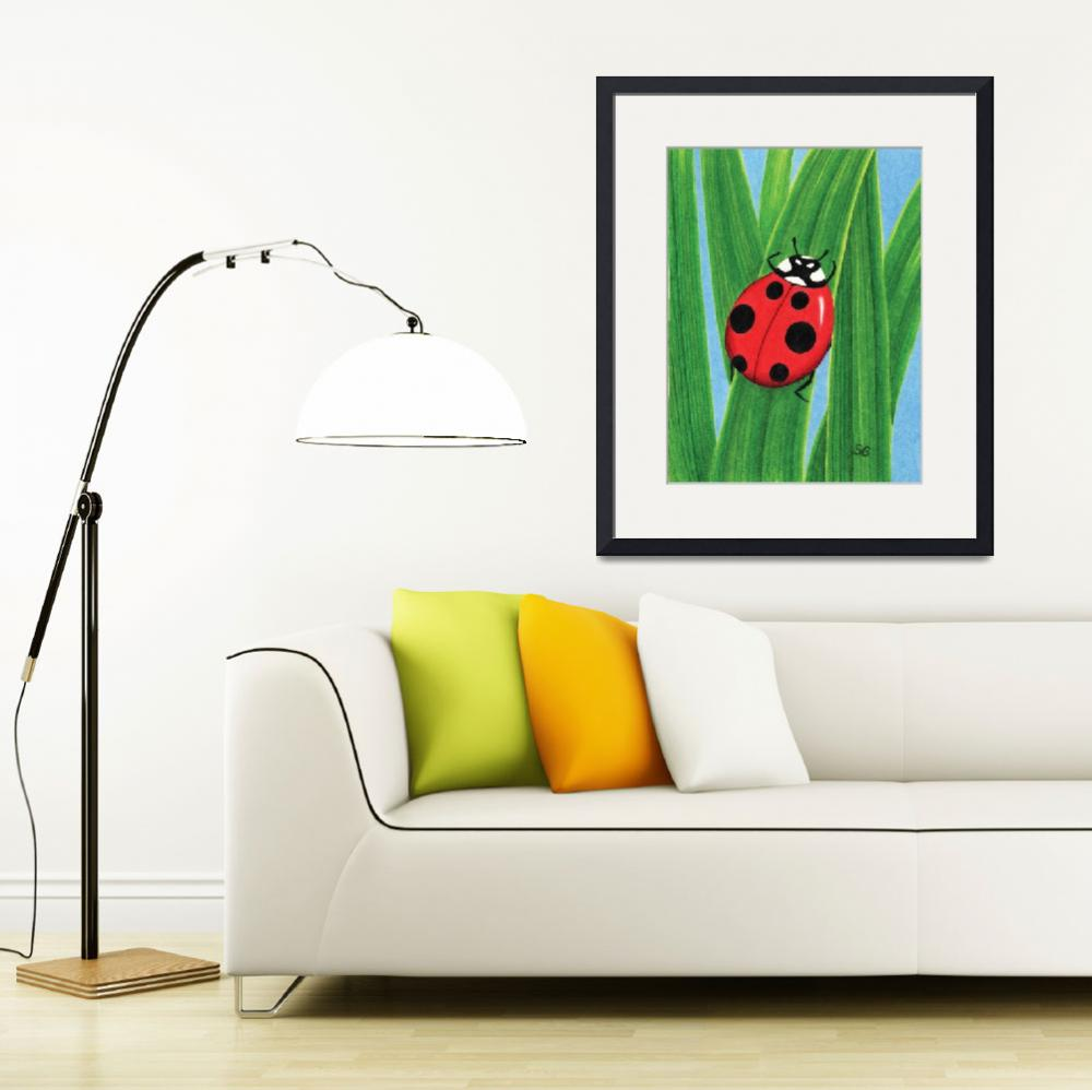 """The Happy Ladybug&quot  (2008) by SamanthasArtStudio"