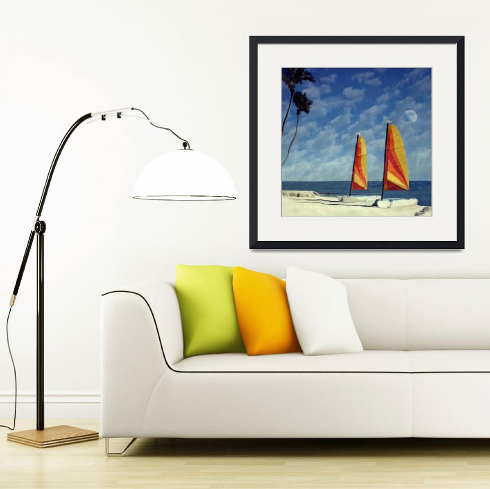 """Sail Boats Cheeca Lodge, Florida Kets&quot  (2004) by joegemignani"