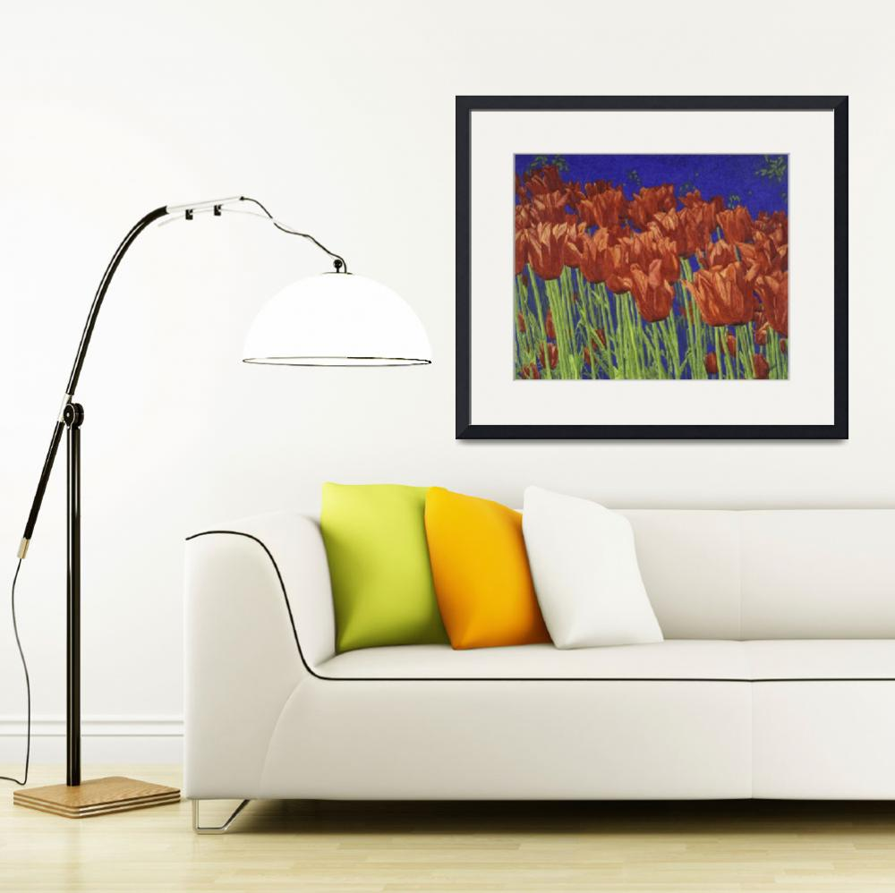 """Fine Art Prints Red Tulips Art Flowers Tulip Art&quot  (2008) by BasleeTroutman"