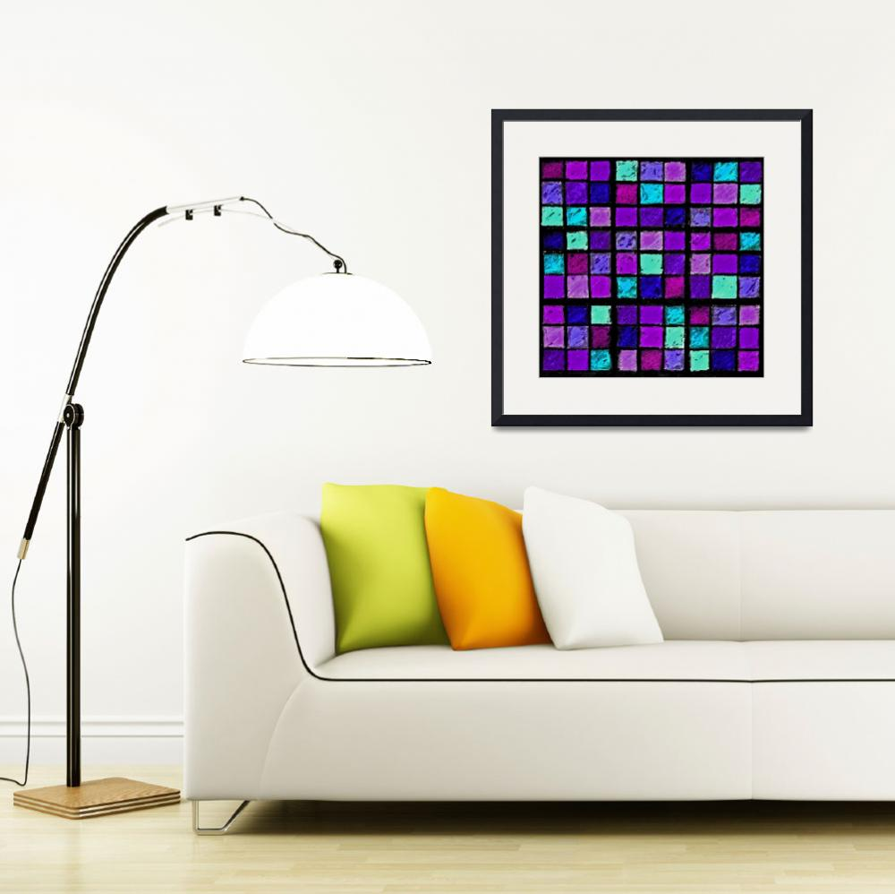 """Sudoku Abstract Purple Turquoise&quot  (2012) by KsWorldArt"