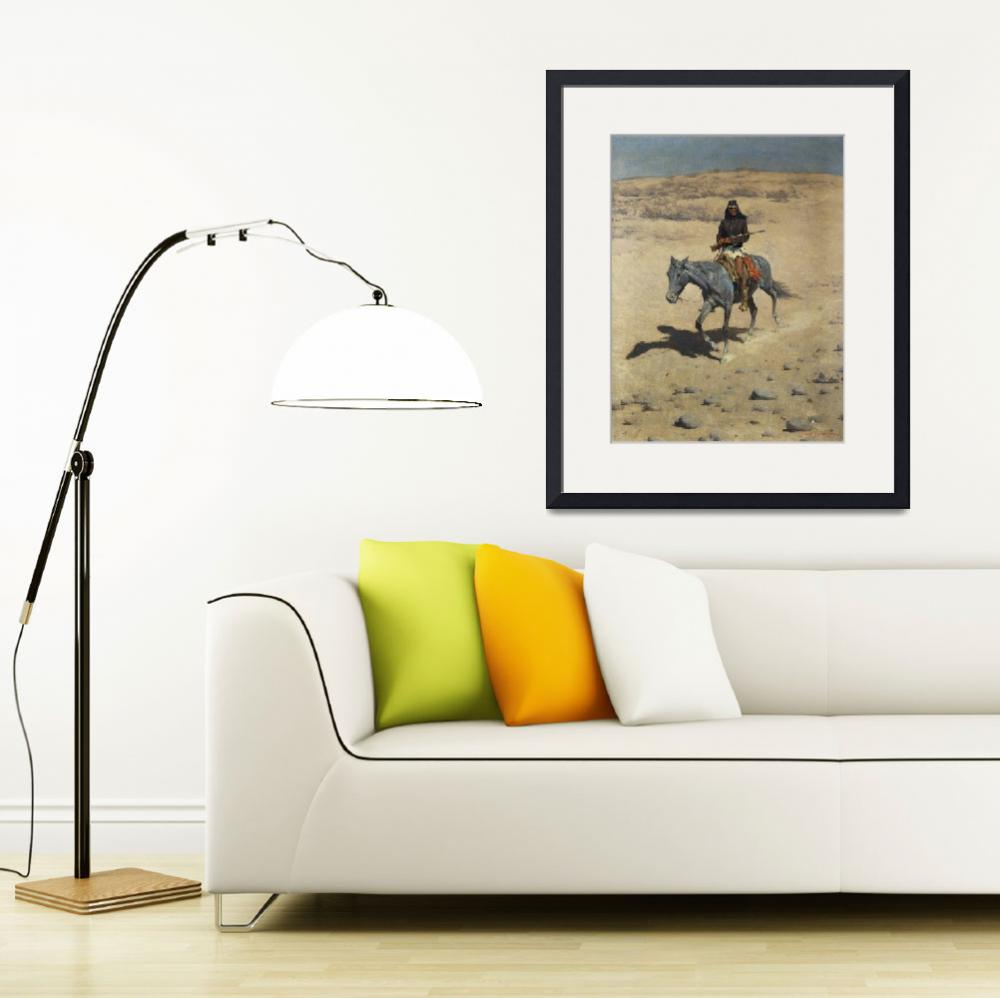 """Apache Scout by Frederic Remington&quot  by fineartmasters"