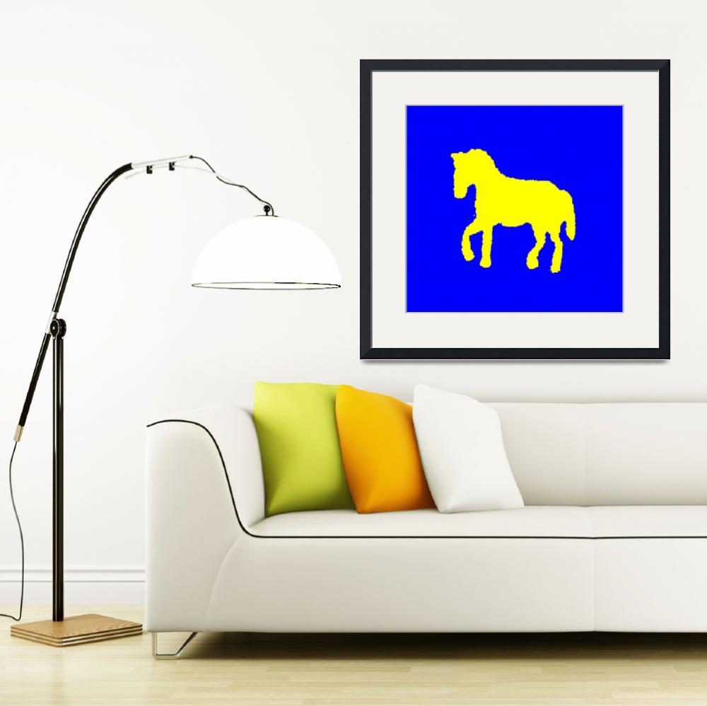 """yellow horse&quot  (2013) by elisosilva"