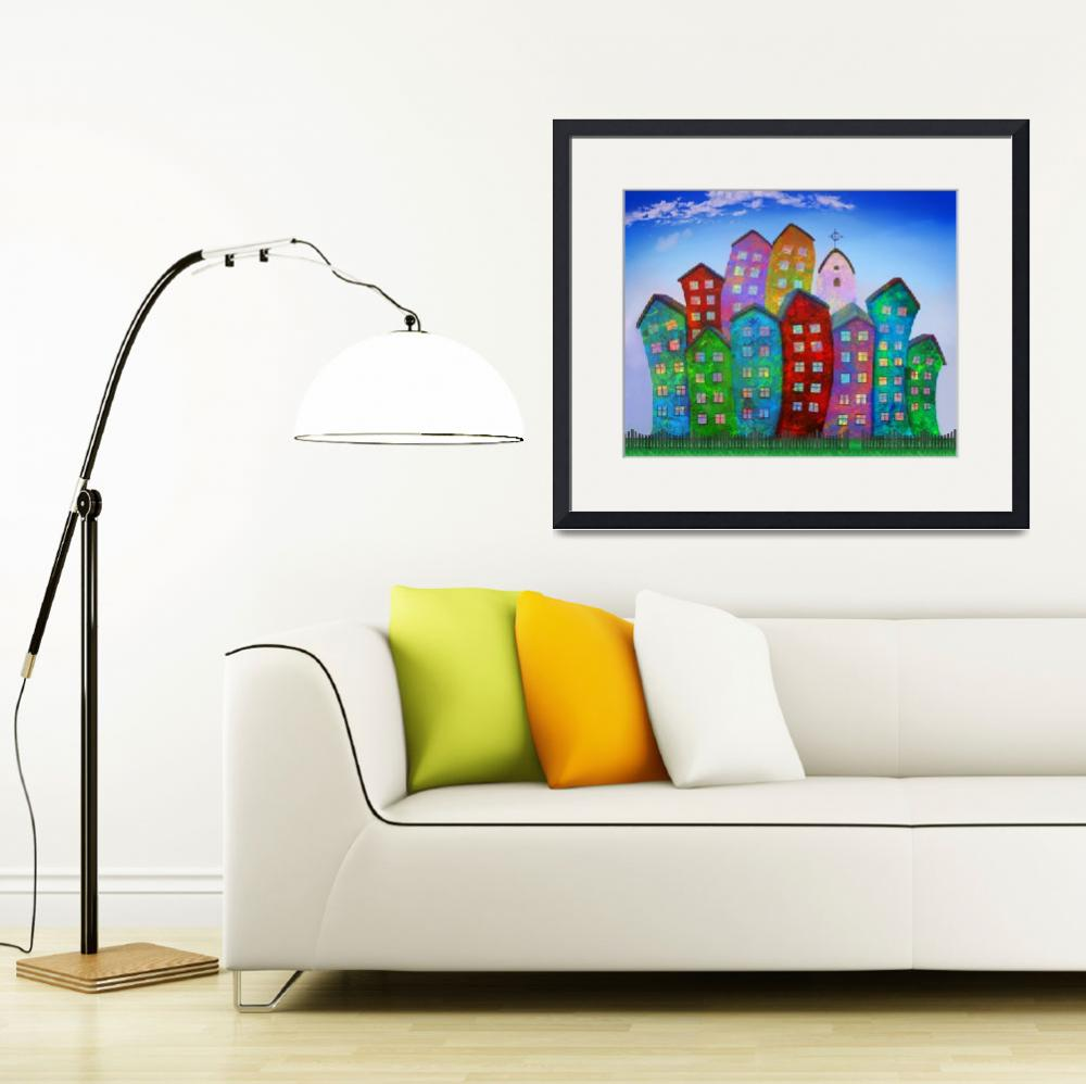 """High and Happy Houses&quot  (2010) by ArtofHeart"