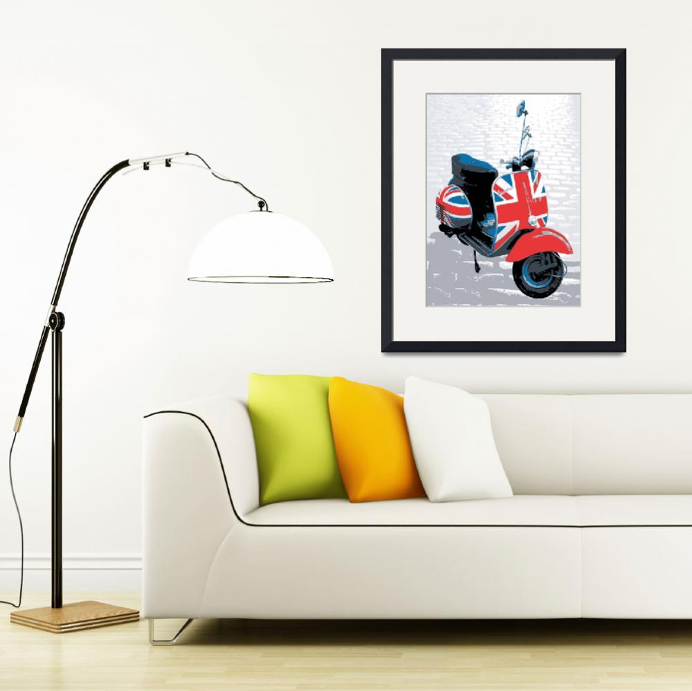 """Vespa Scooter - Mod Style, Pop Art Print&quot  (2008) by ModernArtPrints"