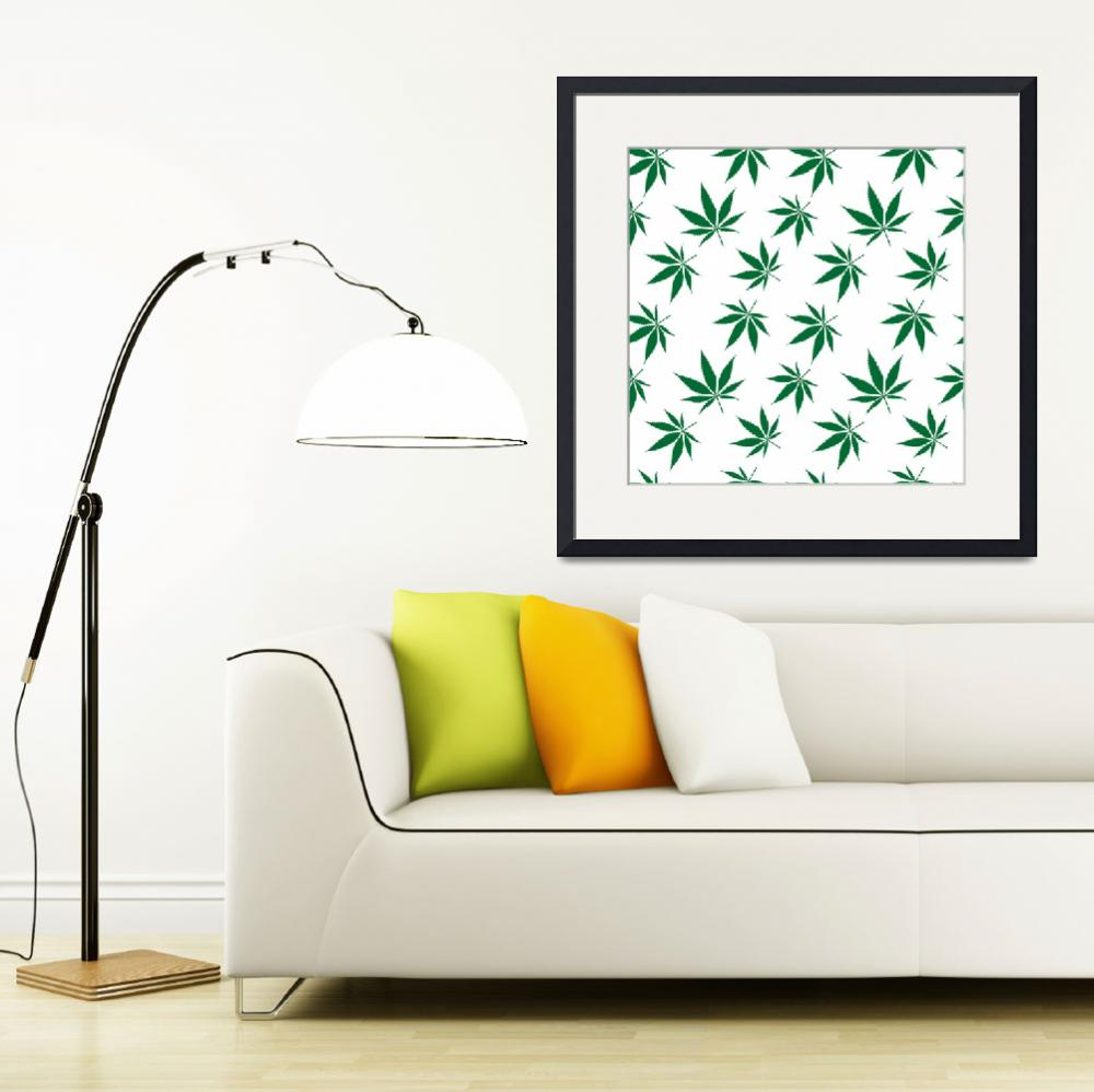 """cannabis seamless pattern extended&quot  by robertosch"