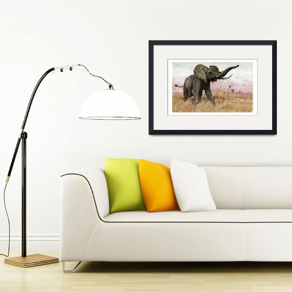 """african  bush elephant&quot  by markkumurto"