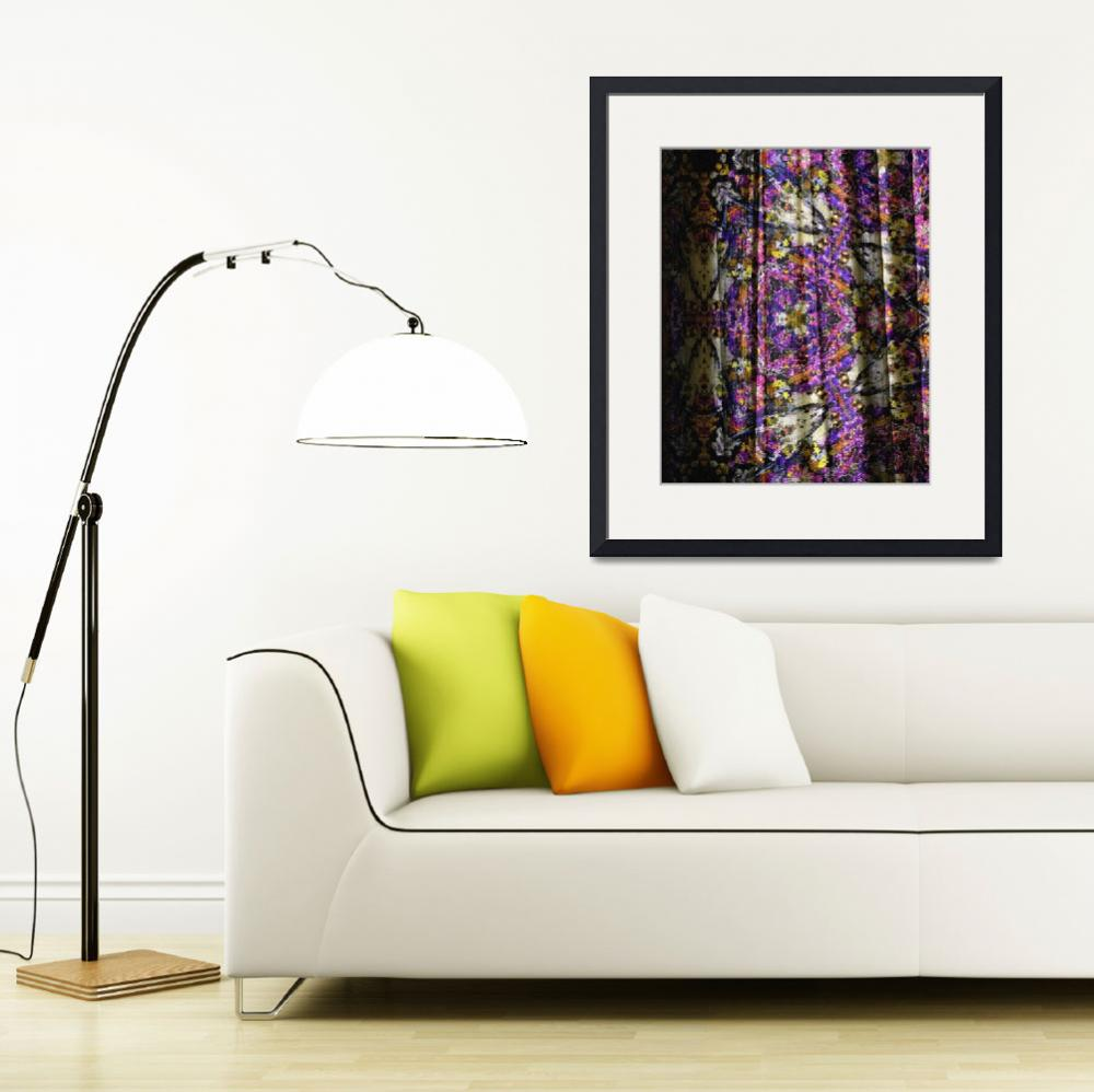 """Lavender Provence Curtain Modern Art&quot  (2014) by GinetteCallaway"