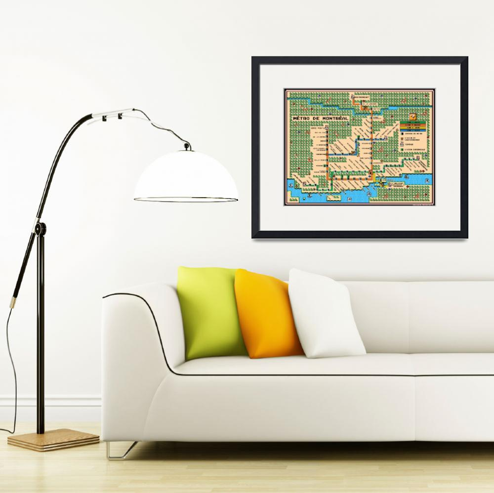 """Montreal Metro Map In Mario 3 Style&quot  (2012) by originaldave77"