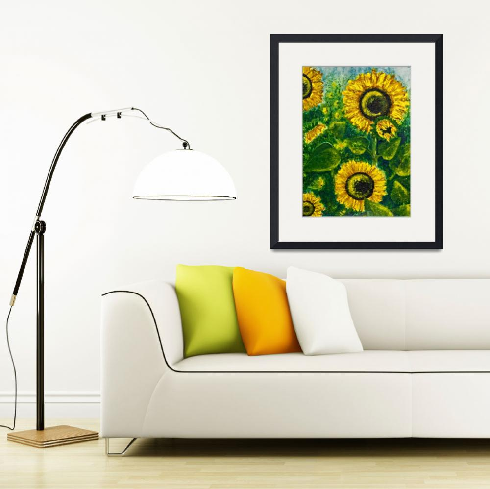 """Sunflowers&quot  (2011) by ShirleyArt"