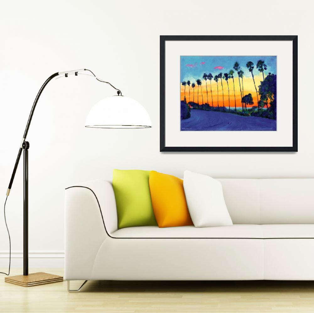 """California Sunset By RD Riccoboni&quot  by BeaconArtWorksCorporation"