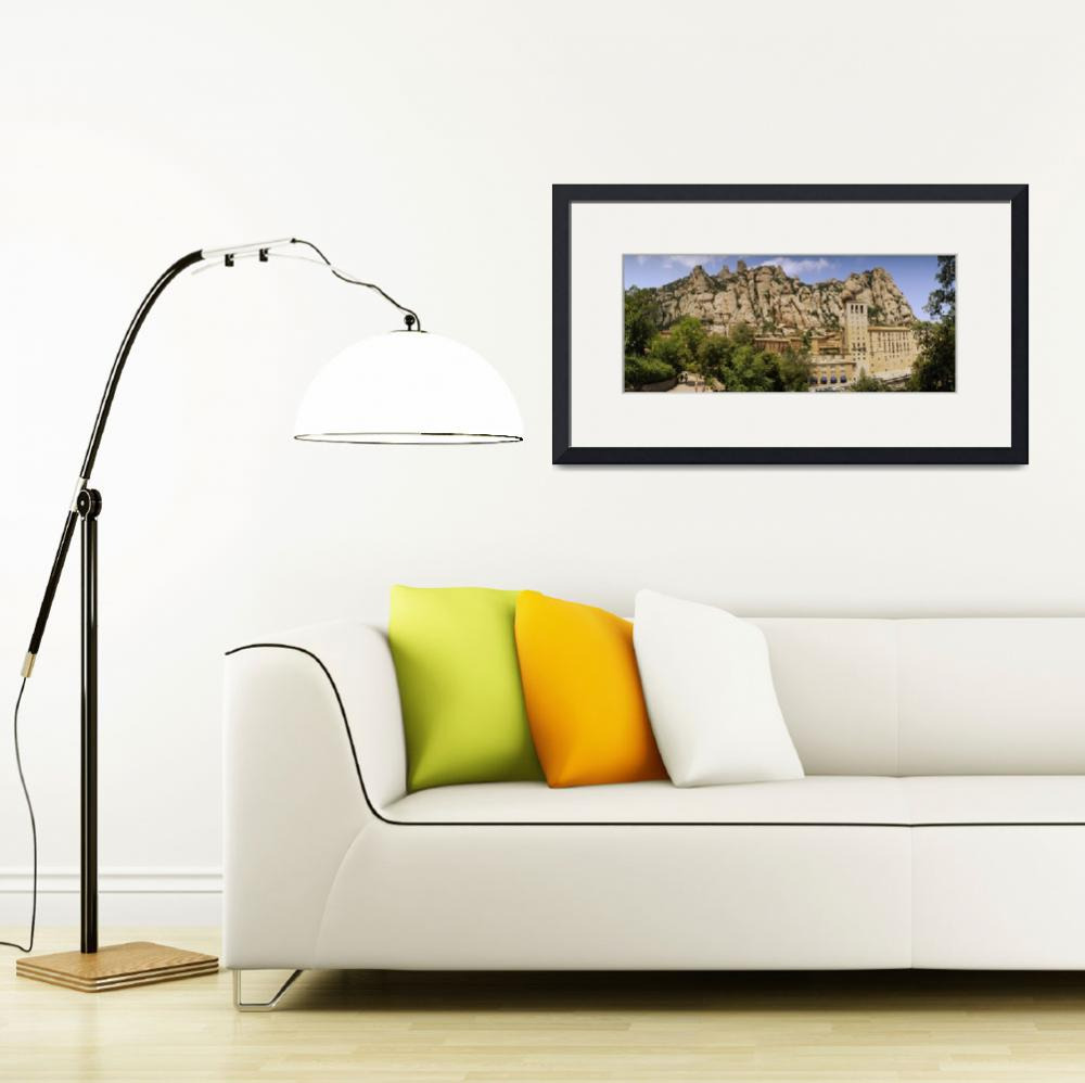 """Rock formations over a monastery&quot  by Panoramic_Images"