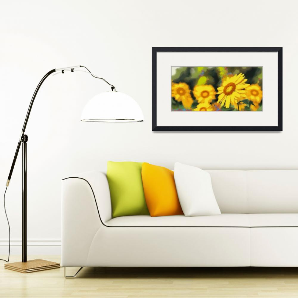 """Sunflower - ID 16218-130704-0133&quot  by lurksart"