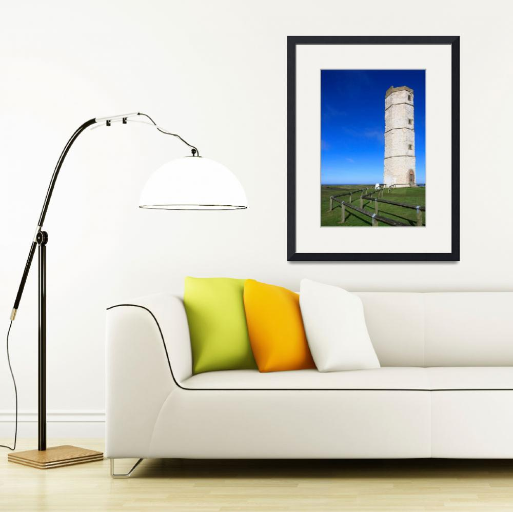 """Old Lighthouse at Flamborough&quot  (2014) by SueLeonard"