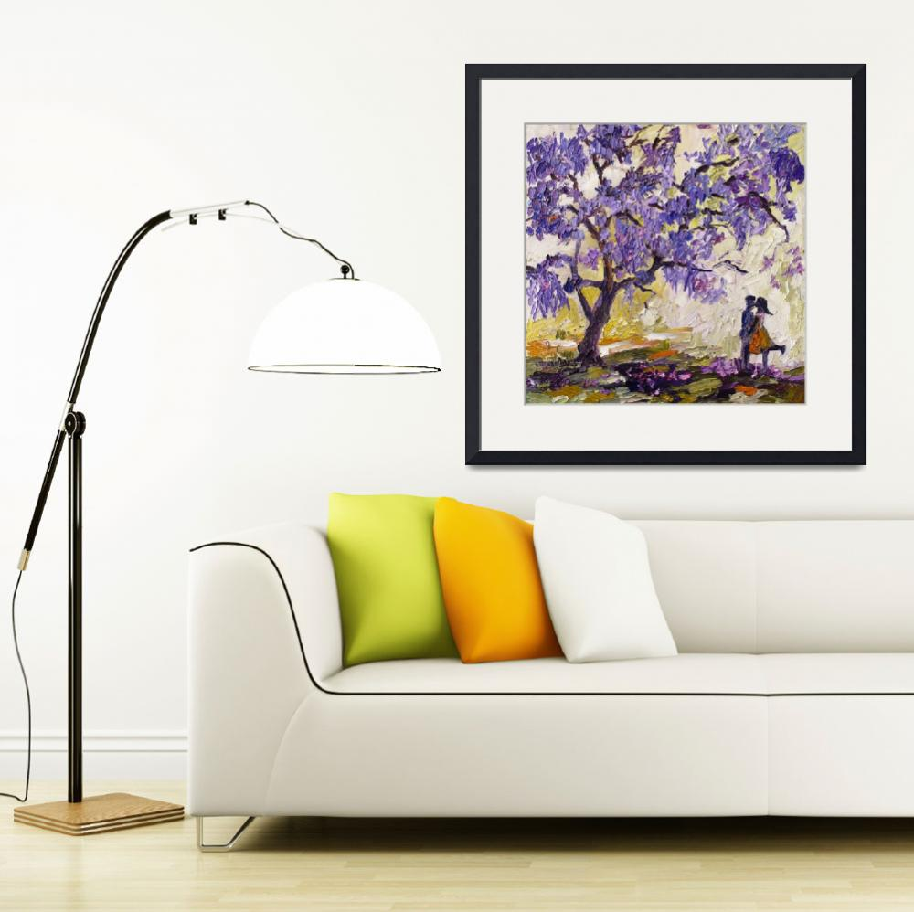 """Love under the Jacaranda Tree Purple Blossoms&quot  (2013) by GinetteCallaway"