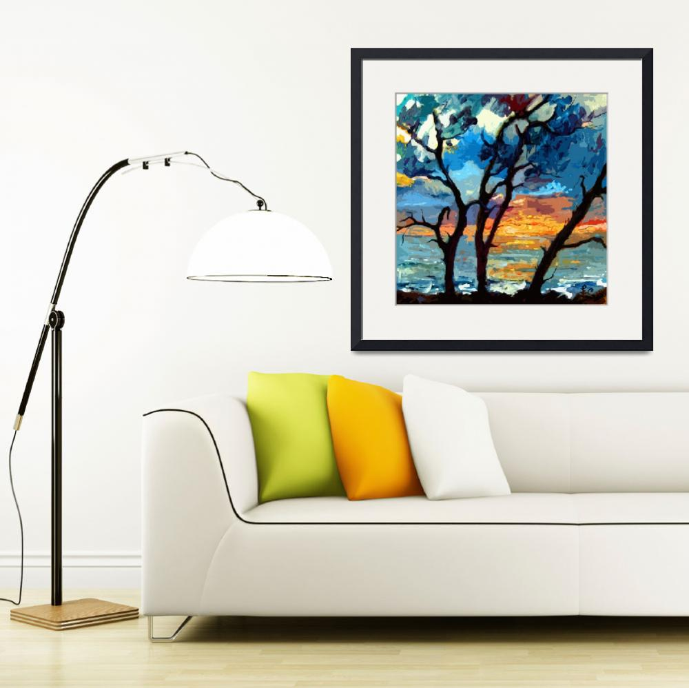 """Jekyll island Sunrise Modern Painting by Ginette&quot  (2012) by GinetteCallaway"