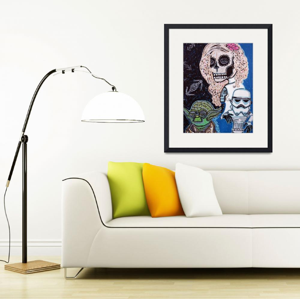 """Star Wars Sugar Skull&quot  (2013) by ArtPrints"