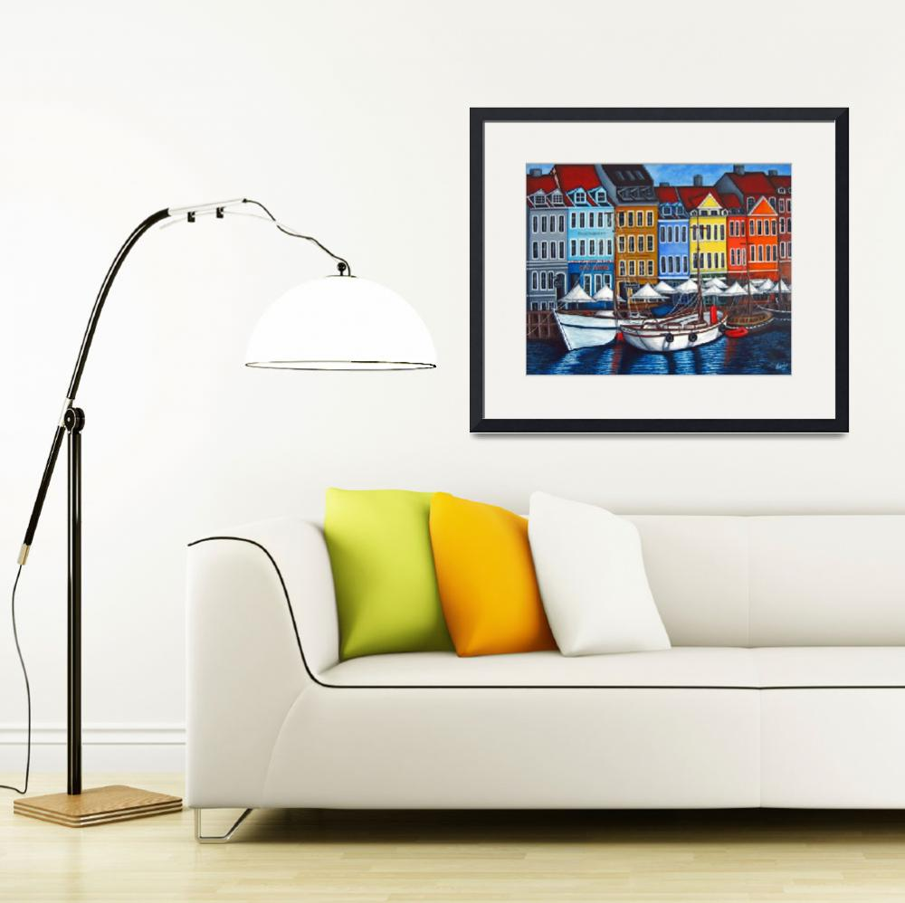 """Colors of Nyhavn II&quot  (2007) by LisaLorenz"