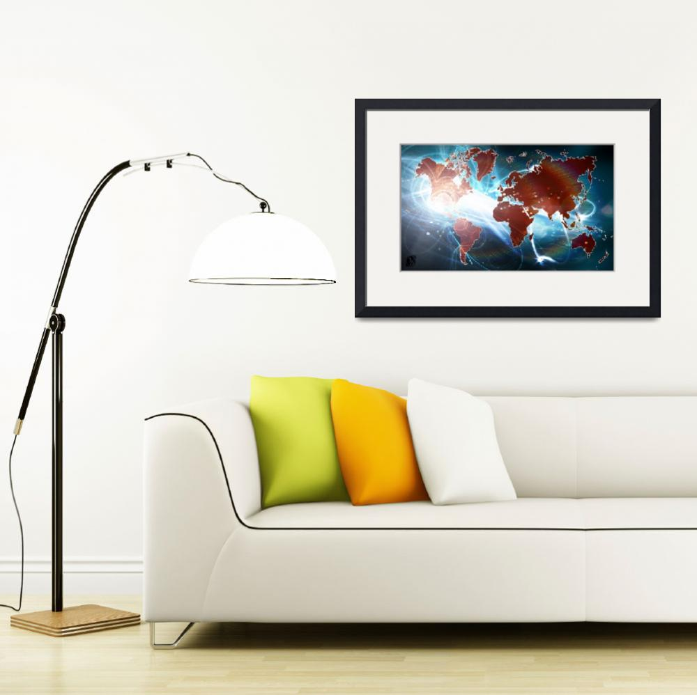 """World Map Digital&quot  (2012) by D77TheDigArtisT"
