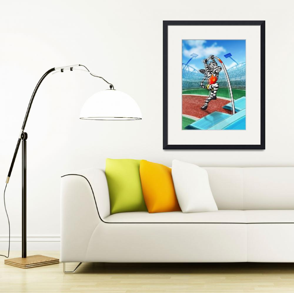 """Olympic Pole Vault Zebra&quot  (2012) by Zooco"