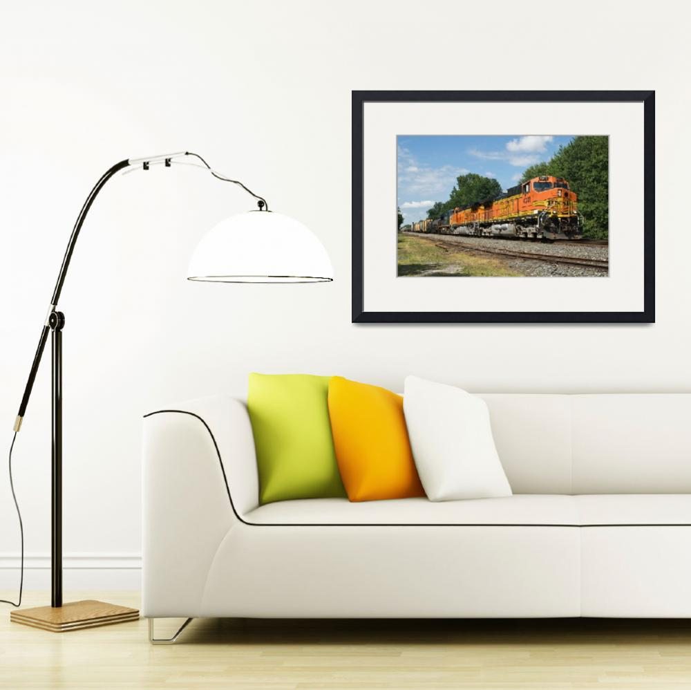 """BNSF Manifest Train&quot  (2012) by StonePhotos"