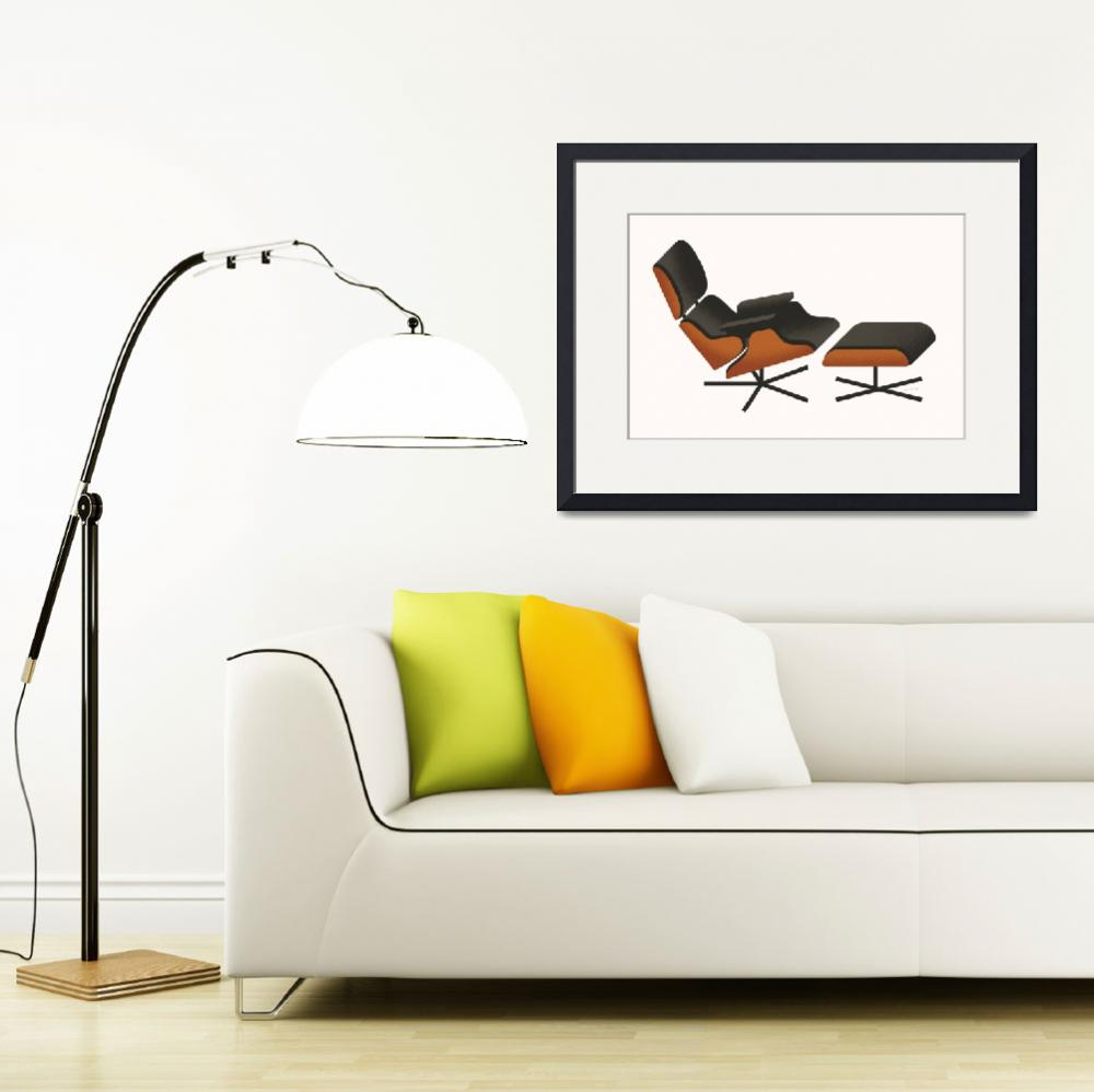 """Eames Lounger&quot  (2009) by jamesprovost"