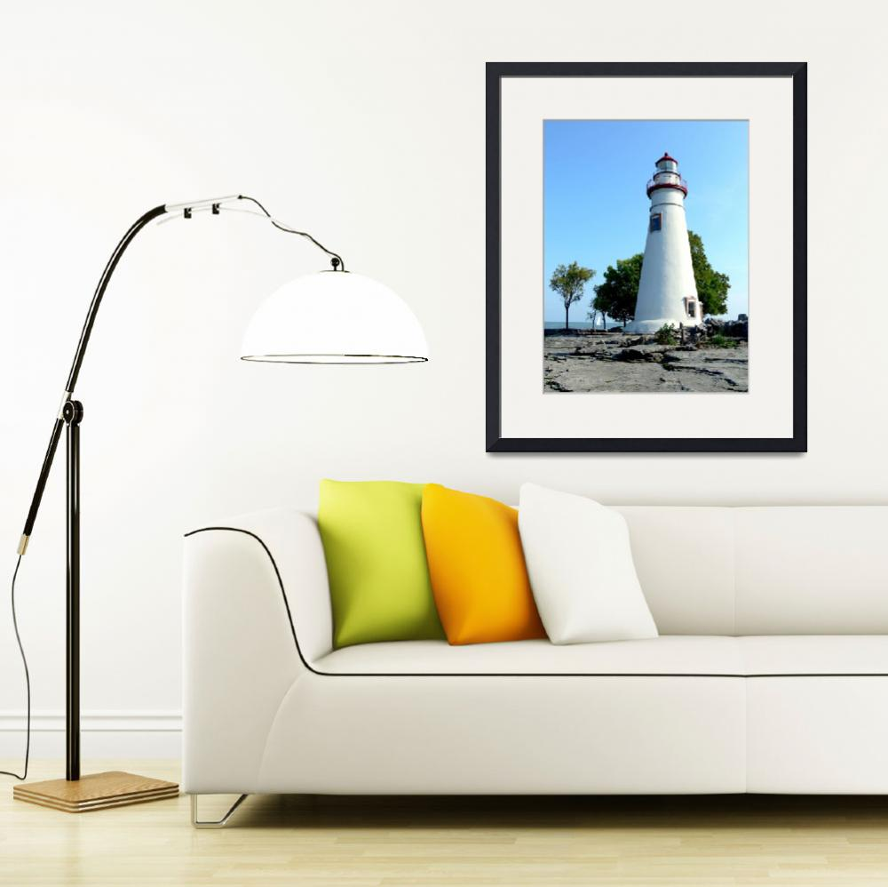"""Marblehead Lighthouse&quot  (2008) by raccoon"