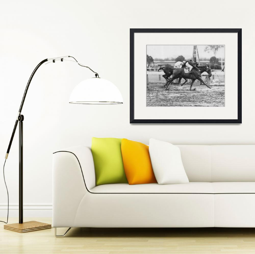 """1966 Vintage Horse Racing&quot  by RetroImagesArchive"