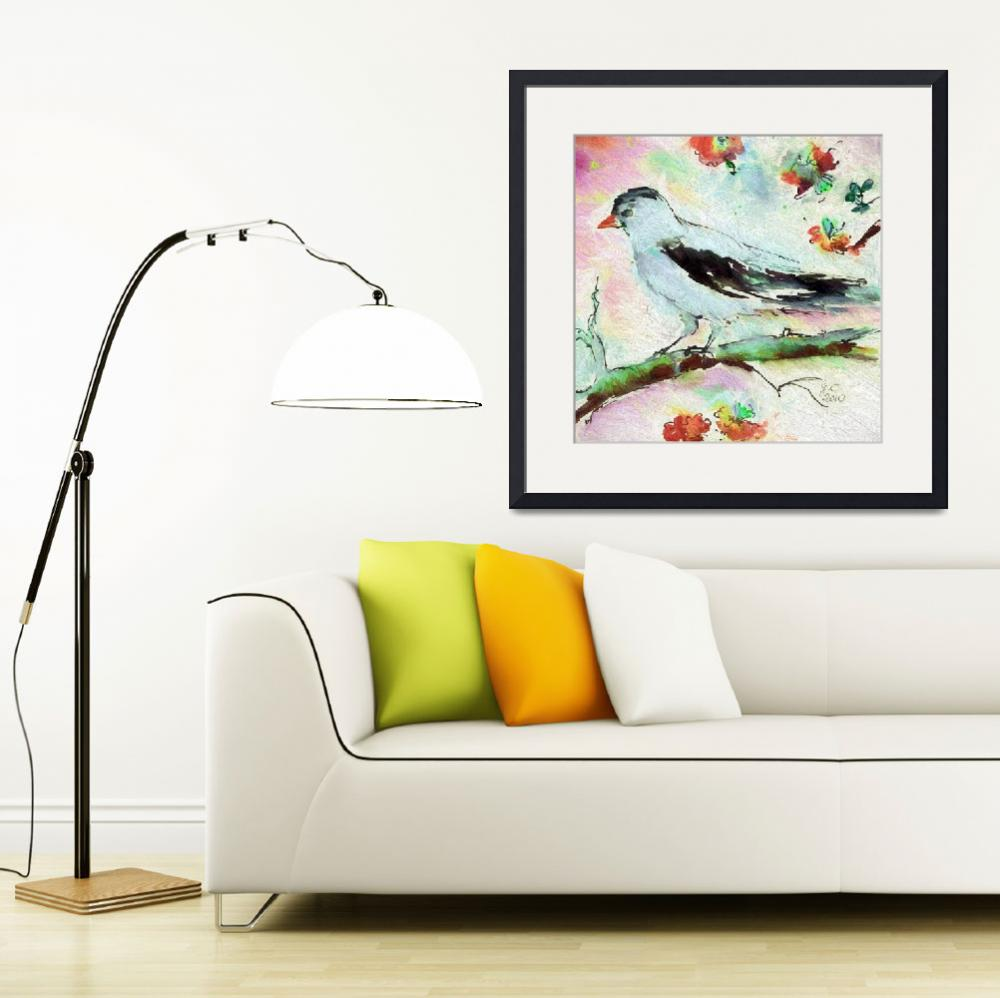 """Pale Birds Square Art Vintage Colors&quot  (2015) by GinetteCallaway"