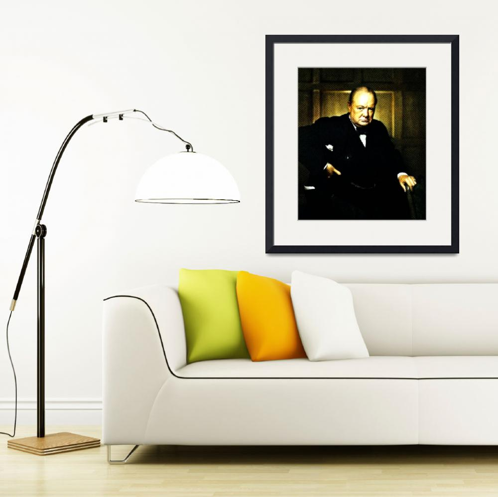"""Winston Churchill, Prime Minister of UK, 1941 2&quot  by motionage"