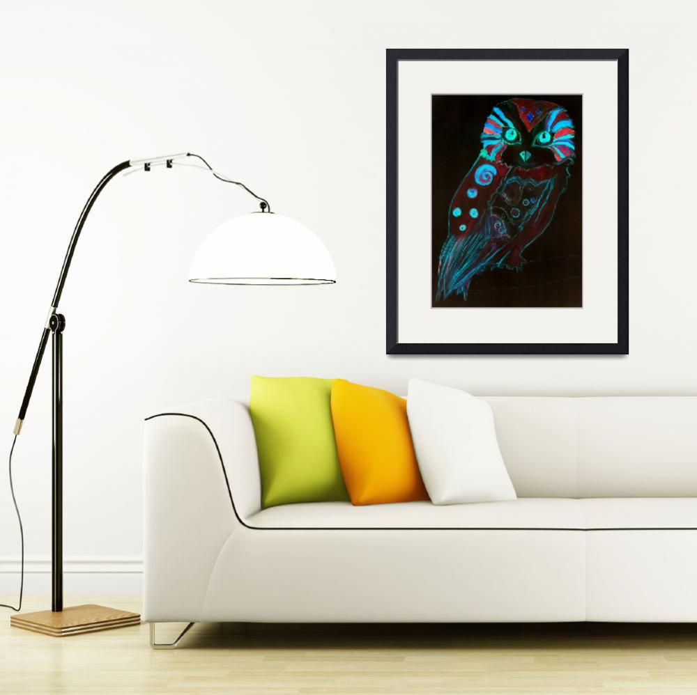 """Night Owl - Lysergia - Psychedelic Poster Art 60s&quot  by lysergia"