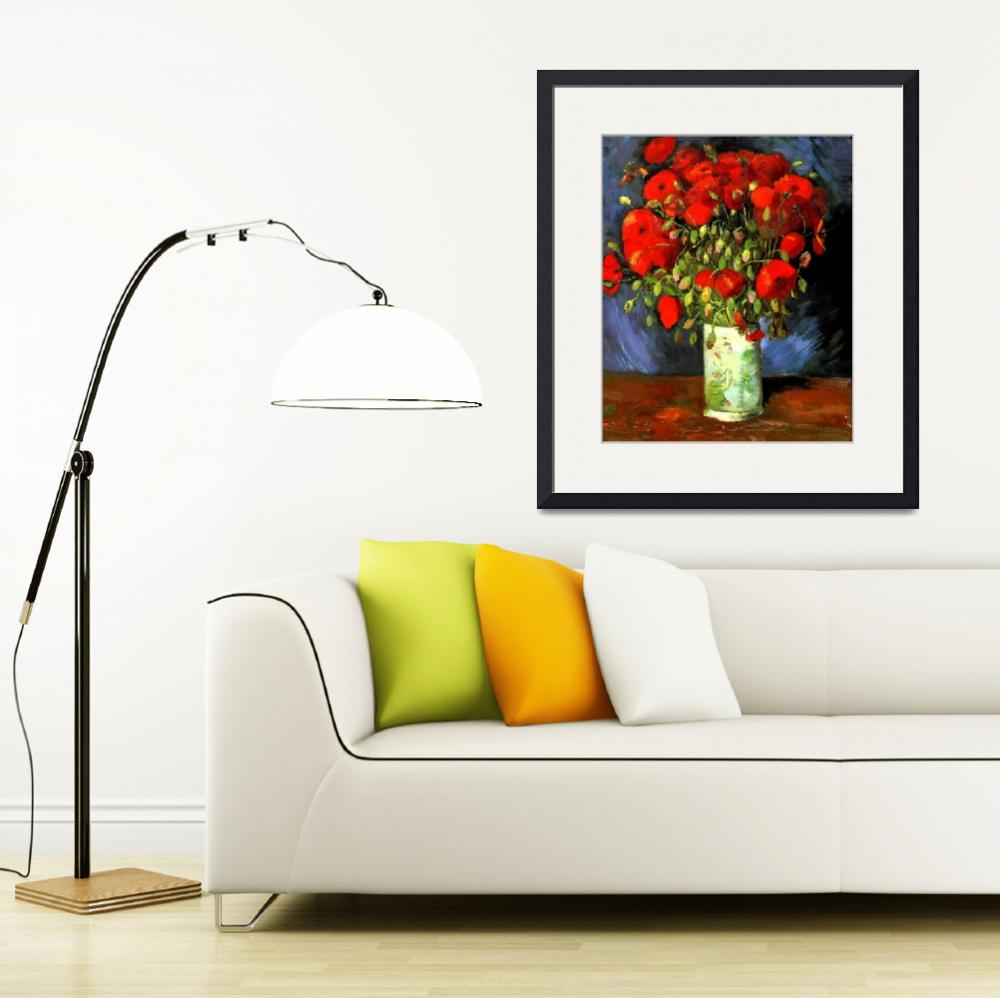 """Vincent Van Gogh - Vase With Red Poppies&quot  by masterpiecesofart"