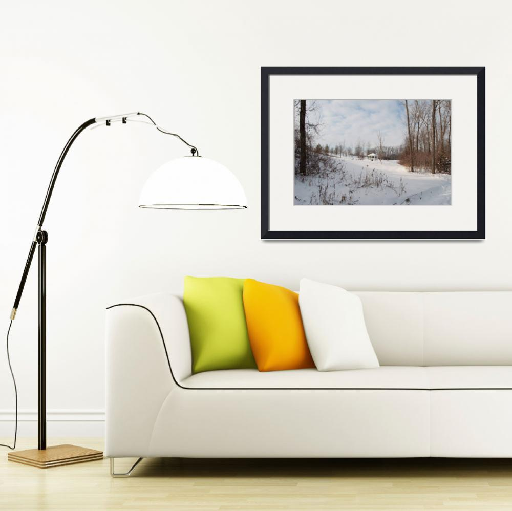 """snowy landscape with gazebo&quot  (2009) by 4thstreetproductions"