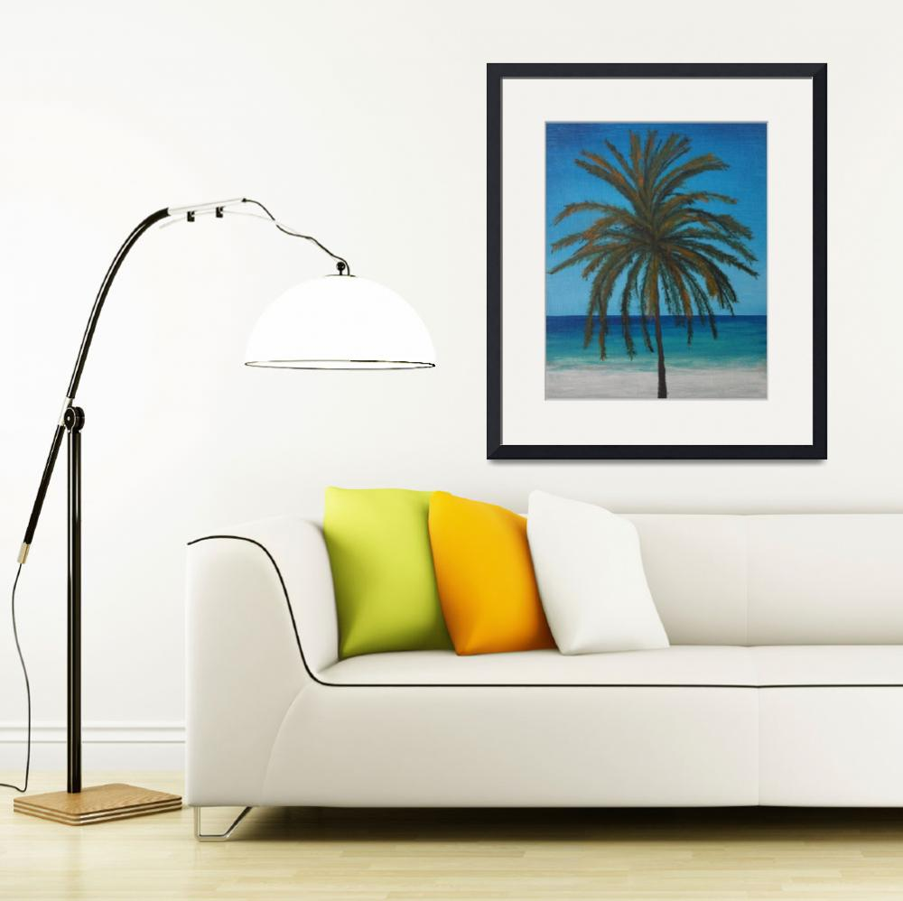 """Calm Palm&quot  (2016) by waynecantrell"