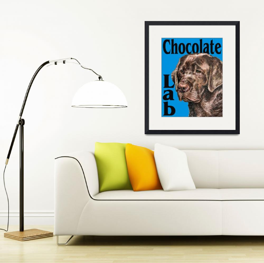 """Blue Pop Pup Chocolate Lab Retriever&quot  (2009) by KathleenSepulveda"