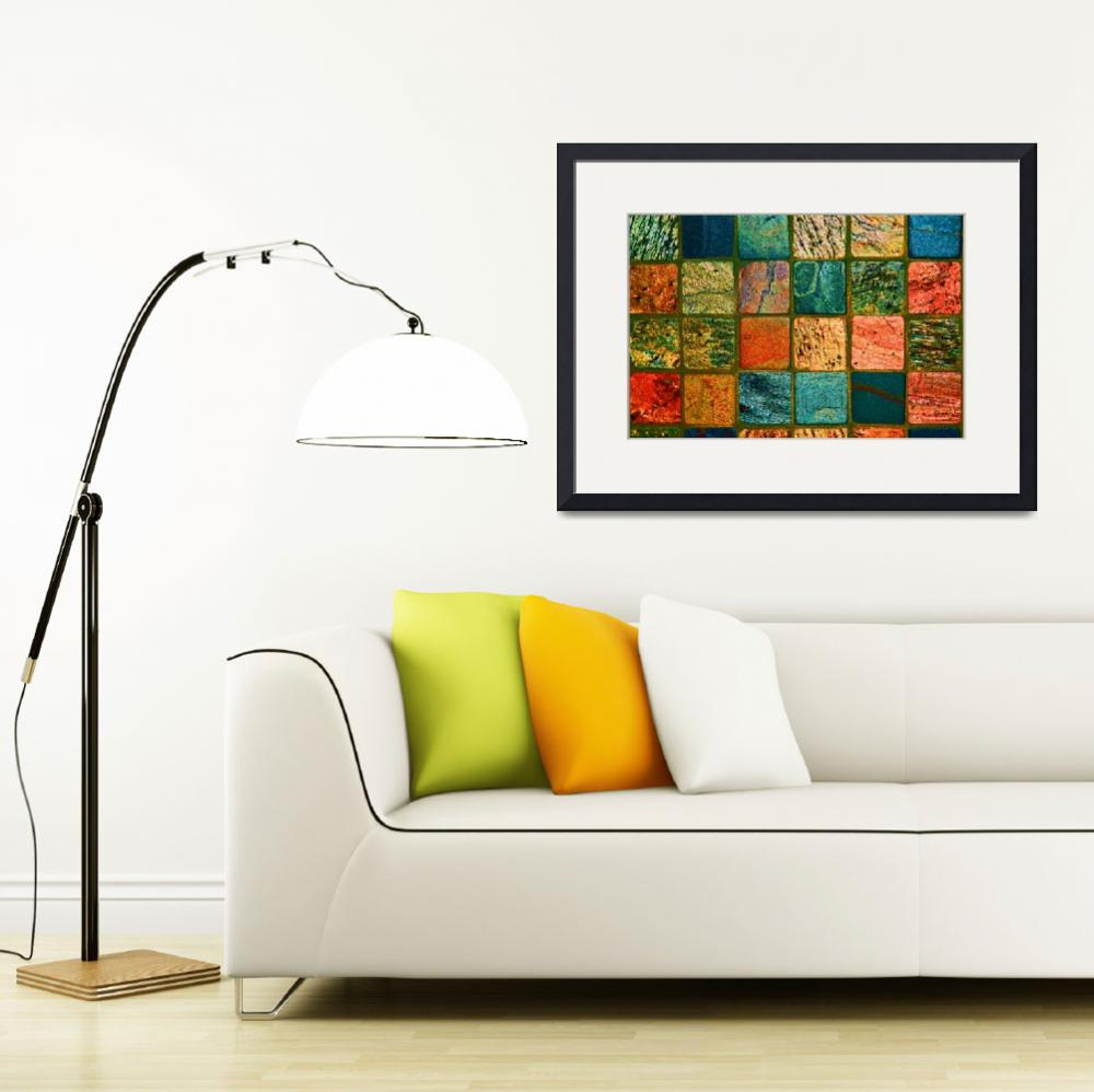 """Quilt of Rocks in bright color&quot  (2012) by KsWorldArt"