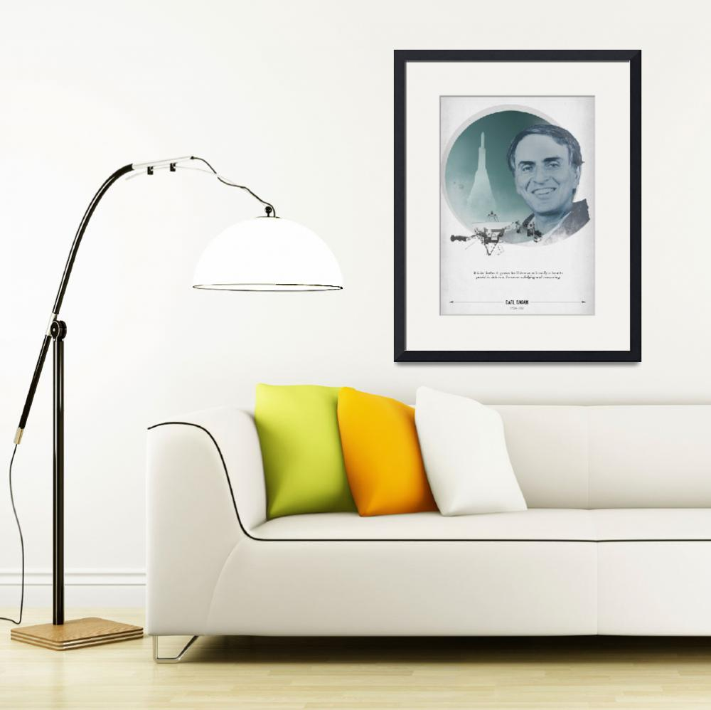 """Carl Sagan&quot  (2012) by cmiles1"
