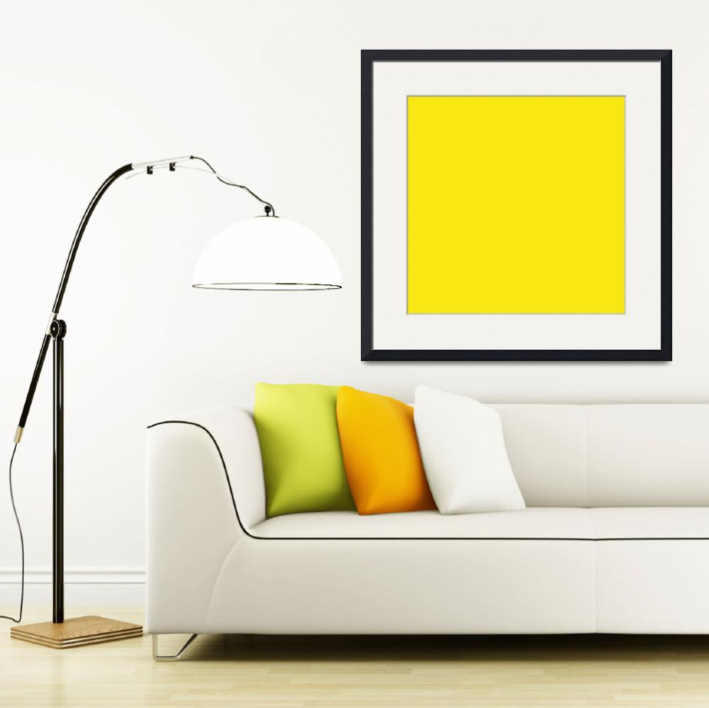 """Square PMS-102 HEX-F9E814 Yellow&quot  (2010) by Ricardos"