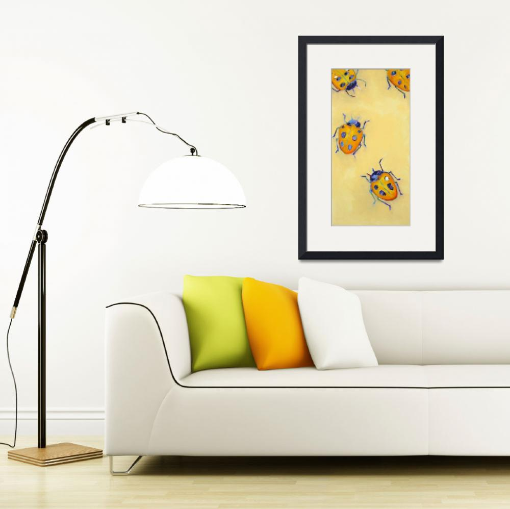 """Yellow Ladybugs&quot  by AnnTuck"