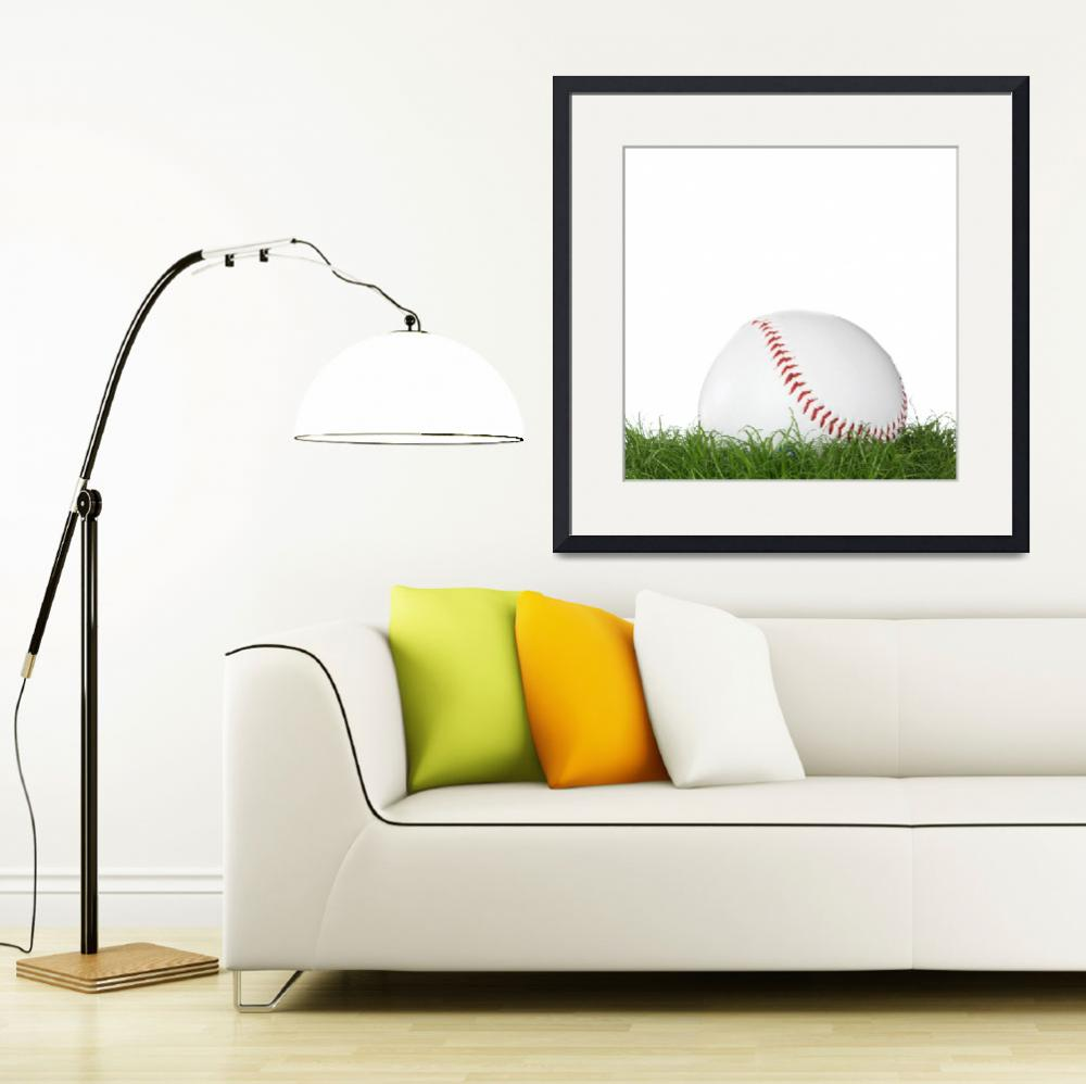 """A baseball ball in the grass.&quot  (2008) by Piotr_Marcinski"