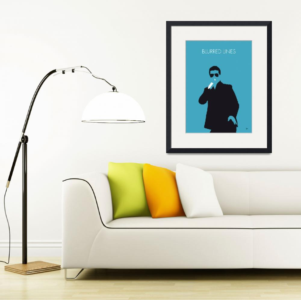 """No055 MY ROBIN THICKE Minimal Music poster&quot  by Chungkong"