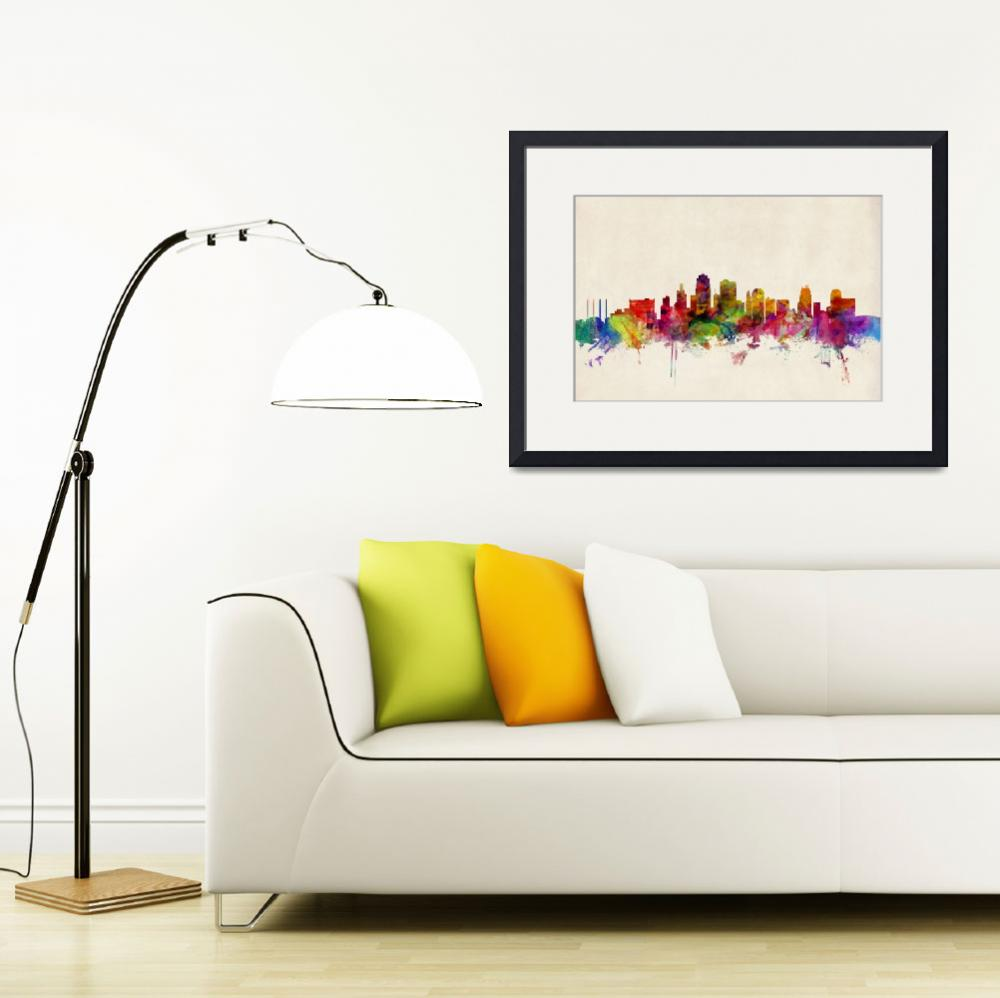 """Kansas City Skyline&quot  (2013) by ModernArtPrints"