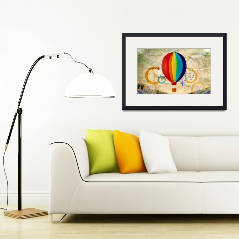 """Hot Air Balloon 2&quot  (2013) by LJdesigns"