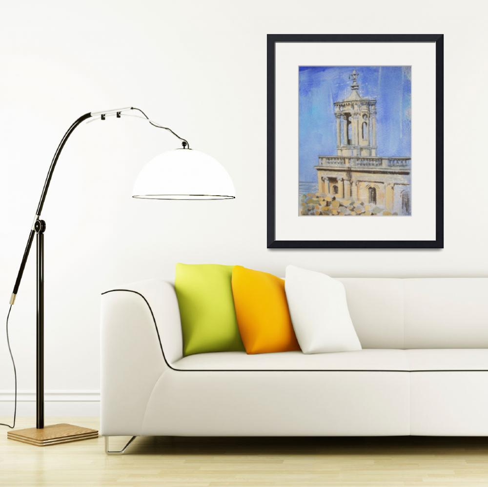 """normanton church,rutland water&quot  (2012) by karen38green"