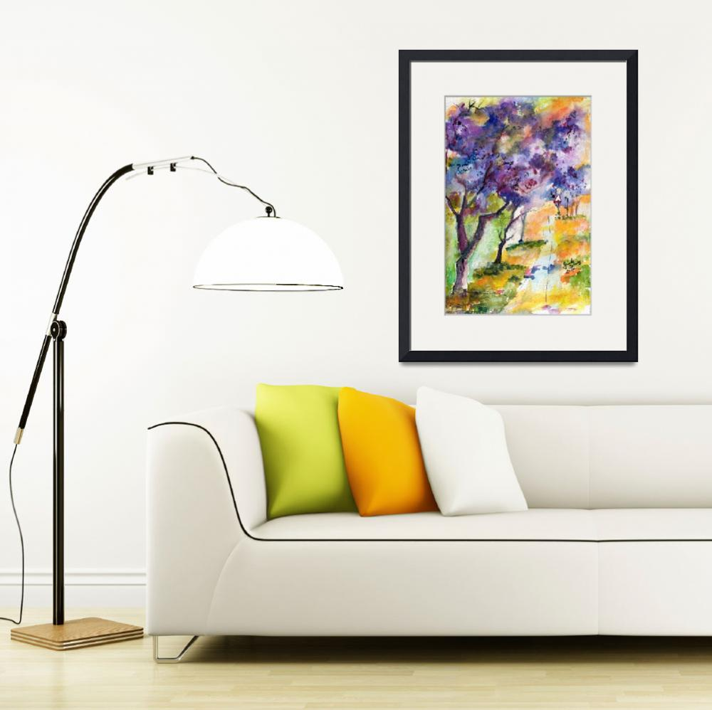 """Jacaranda Tree Watercolor by Ginette&quot  (2014) by GinetteCallaway"