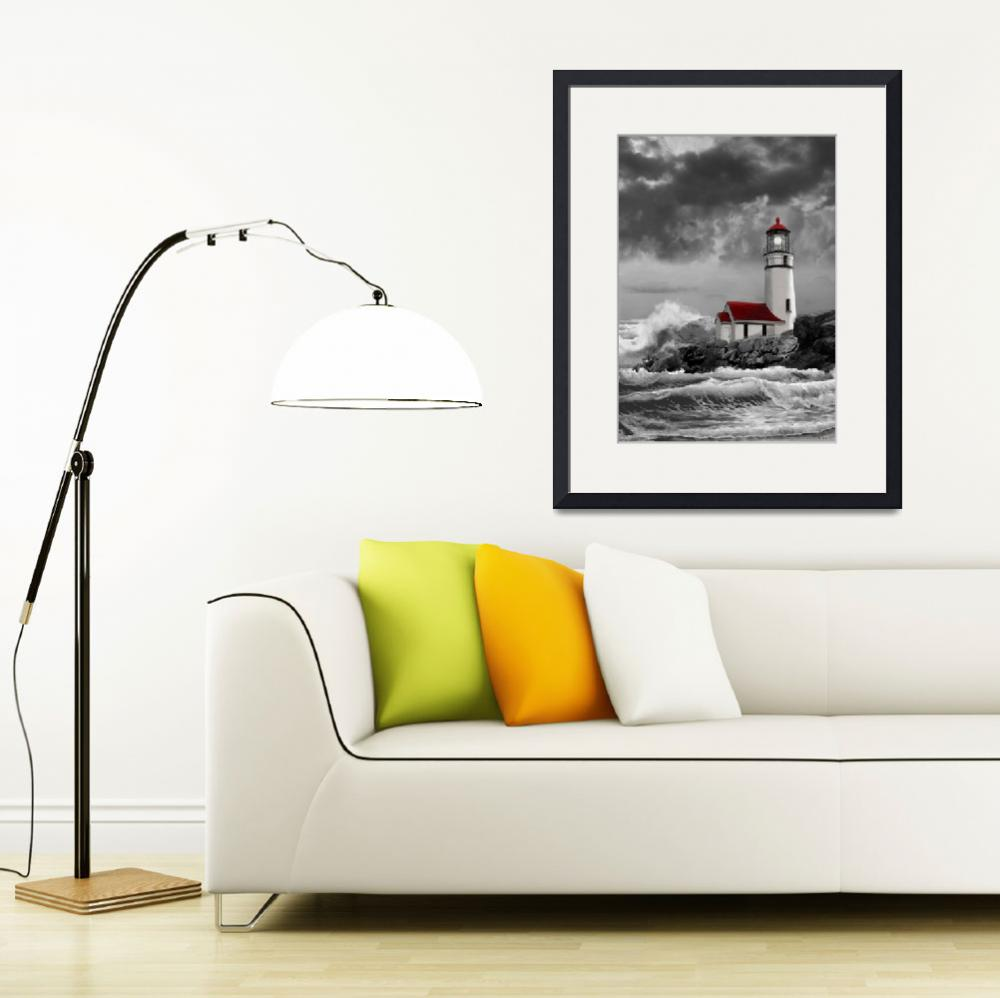 """Cape Meares Lighthouse scene&quot  (2012) by Unique_designs"