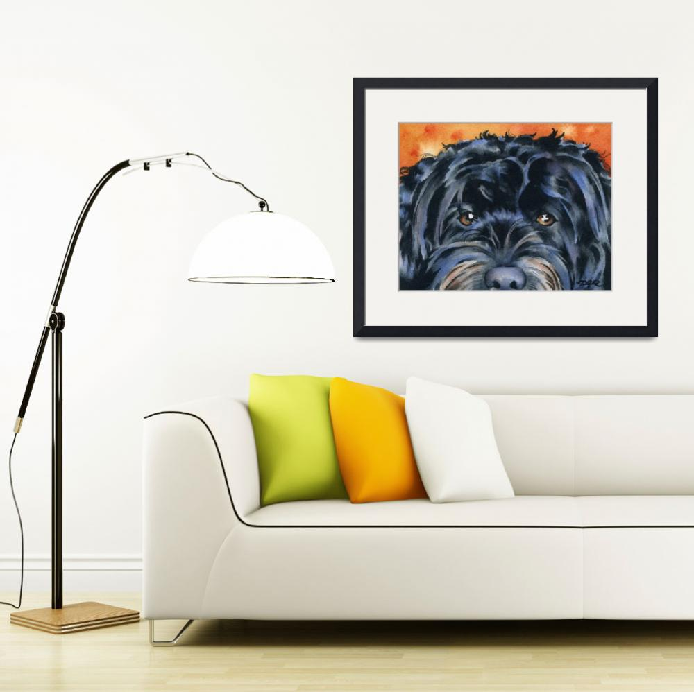 """Cockapoo Black&quot  (2015) by k9artgallery"