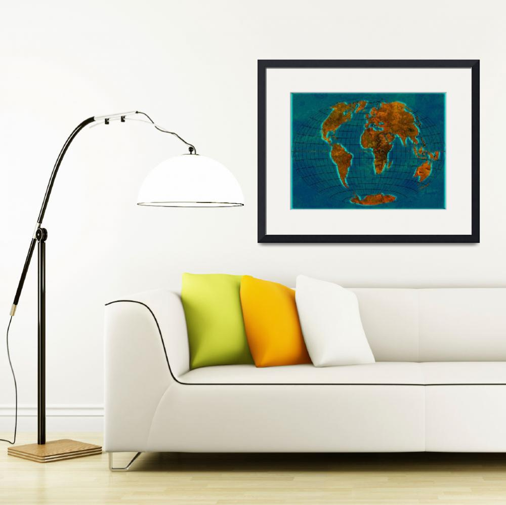 """World Map 1c&quot  (2013) by Marian1"