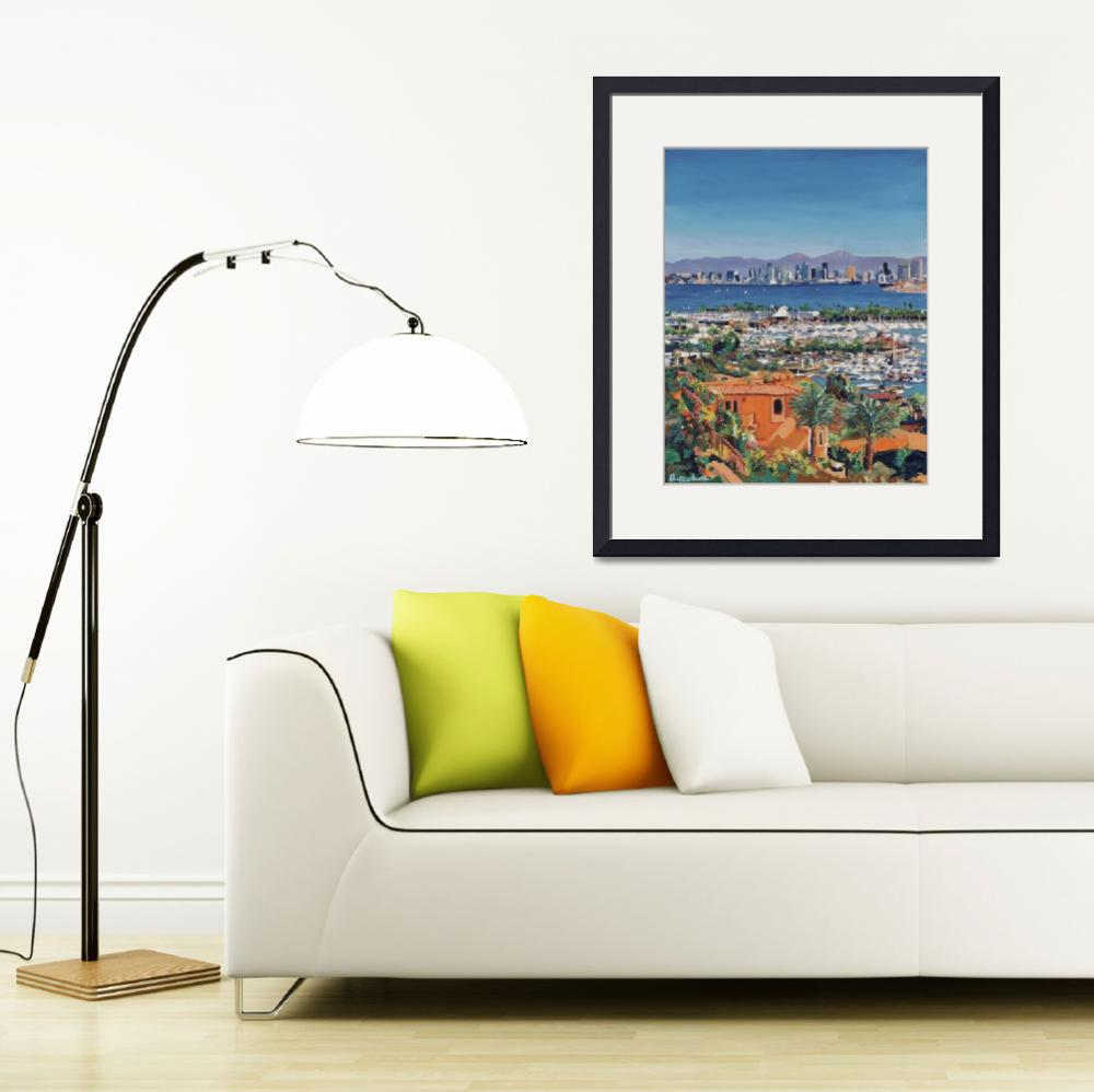 """San Diego Skyline From Point Loma&quot  (2010) by RDRiccoboni"